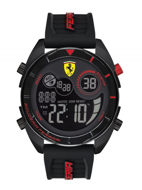 שעון יד דיגיטלי מבית FERRARI עם רצועת סיליקון דגם 830743