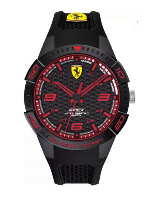 שעון יד גברים מבית FERRARI עם רצועת סיליקון קולקציית APEX דגם 830747