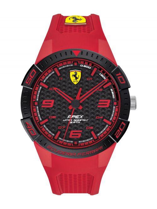 שעון יד לגבר FERRARI רצועת סיליקון אדומה דגם 830748