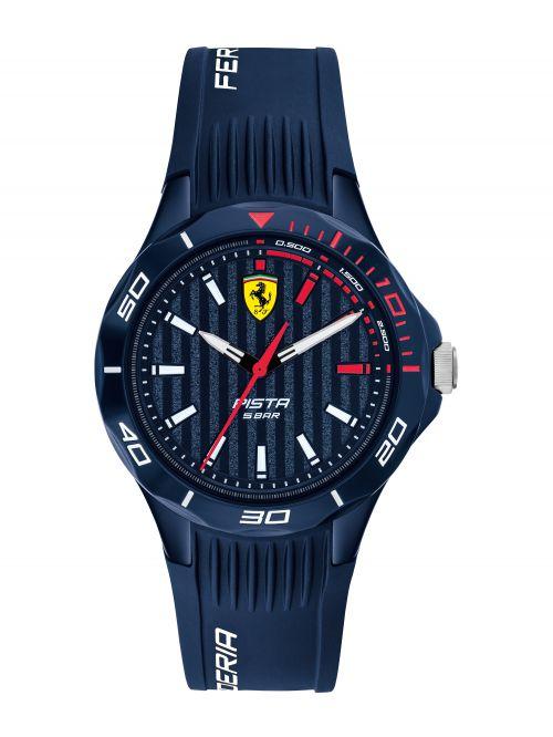 שעון יד FERRARI לנער עם רצועת סיליקון בצבע כחול דגם 0840039