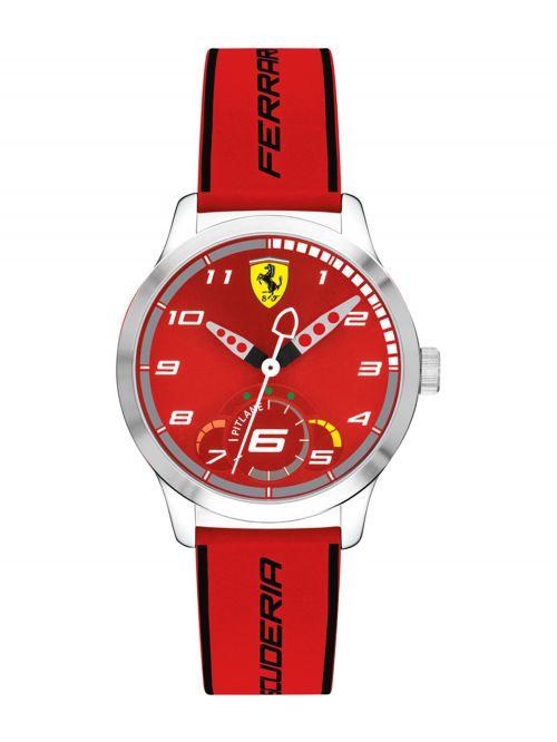 שעון יד ילדים FERRARI רצועת סיליקון אדומה דגם 860004