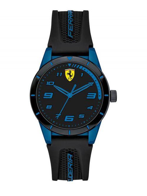 שעון יד ילדים FERRARI רצועת סיליקון שחורה קולקציית REDREV דגם 860007