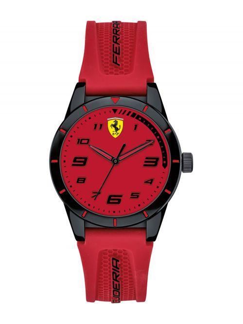 שעון יד ילדים FERRARI רצועת סיליקון אדומה דגם 860008