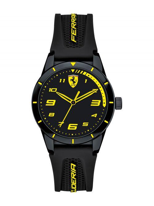 שעון יד ילדים FERRARI רצועת סיליקון שחורה דגם 860009