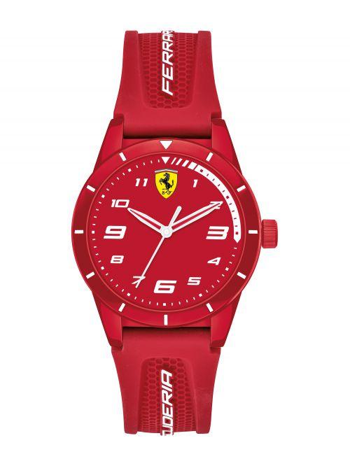 שעון יד ילדים FERRARI רצועת סיליקון אדומה דגם 860010