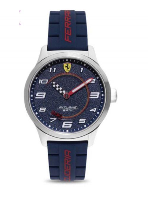 שעון יד לנער FERRARI רצועת סיליקון  כחולה קולקציית PITLANE דגם 860015