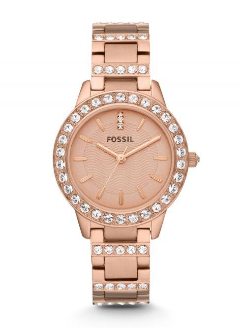 שעון יד נשים FOSSIL בצבע רוז גולד דגם ES3020