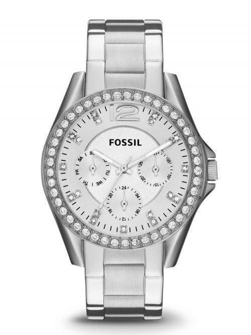 שעון יד FOSSIL לאישה קולקציית RILEY עם רצועת מתכת דגם ES3202