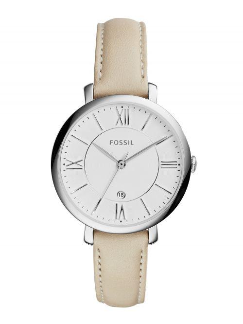 שעון FOSSIL לאישה עם רצועת עור קולקציית JACQUELINE דגם ES3793