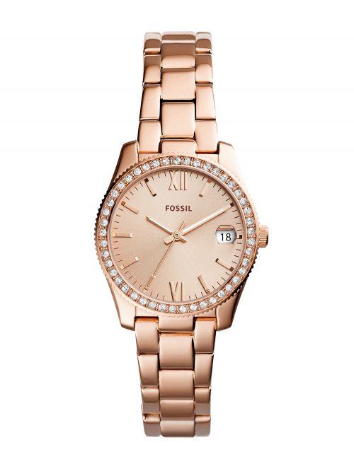 שעון FOSSIL לאישה בצבע רוז-גולד דגם ES4318