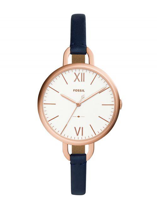 שעון יד FOSSIL לאישה עם רצועת עור קולקציית ANNETTE דגם ES4355
