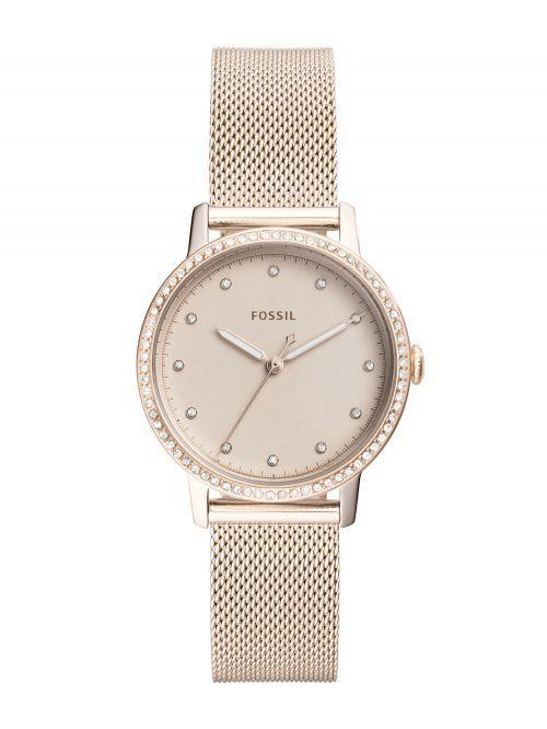 שעון יד FOSSIL לאישה עם רצועת מש קולקציית NEELY דגם ES4364