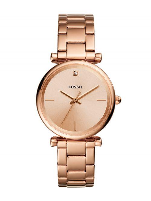 שעון יד FOSSIL לאישה עם רצועת מתכת קולקציית CARLIE דגם ES4441