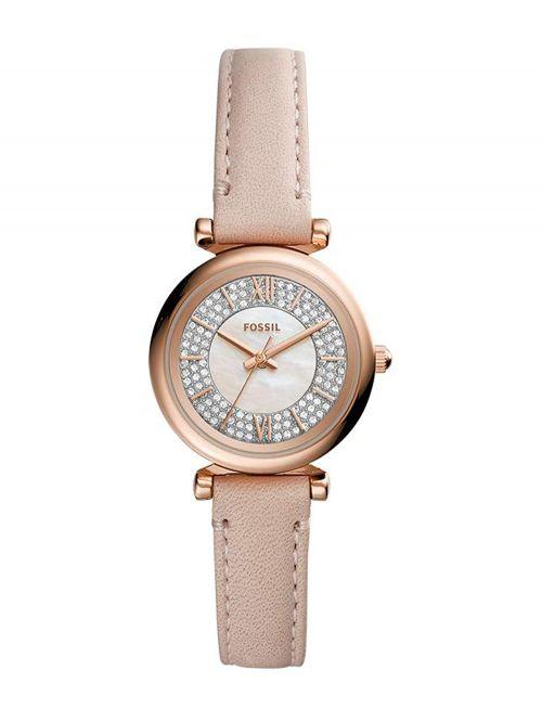שעון יד נשים FOSSIL רצועת עור בצבע ניוד דגם ES4839