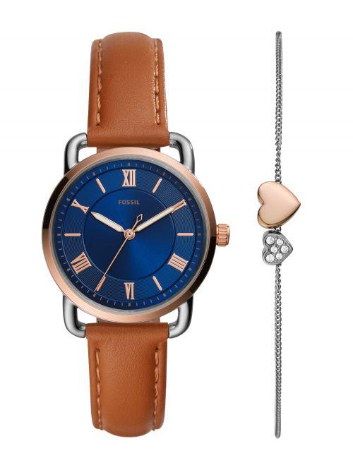 סט צמיד ושעון מבית FOSSIL דגם ES4913SET
