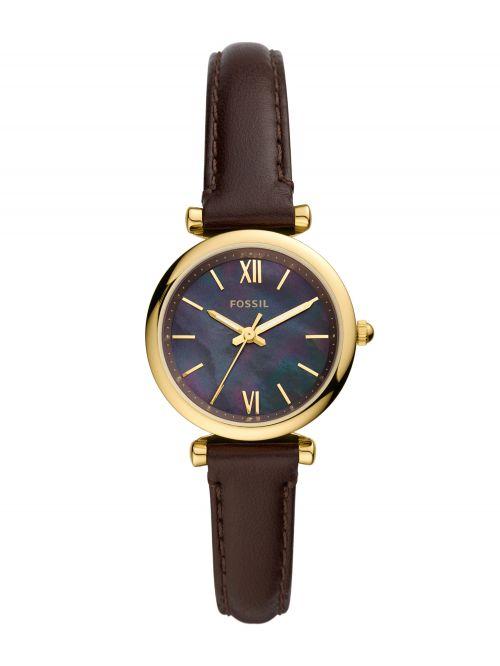 שעון יד נשים FOSSIL רצועת עור בצבע חום דגם ES4968