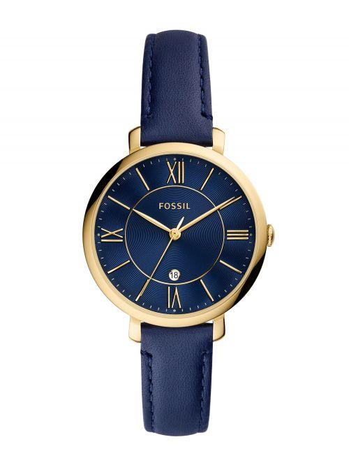 שעון יד נשים FOSSIL רצועת עור בצבע כחול דגם ES5023