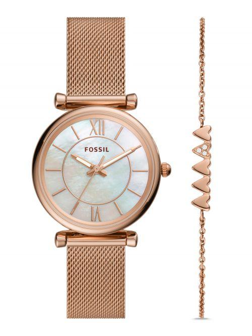 סט צמיד ושעון FOSSIL לאישה דגם ES5058SET