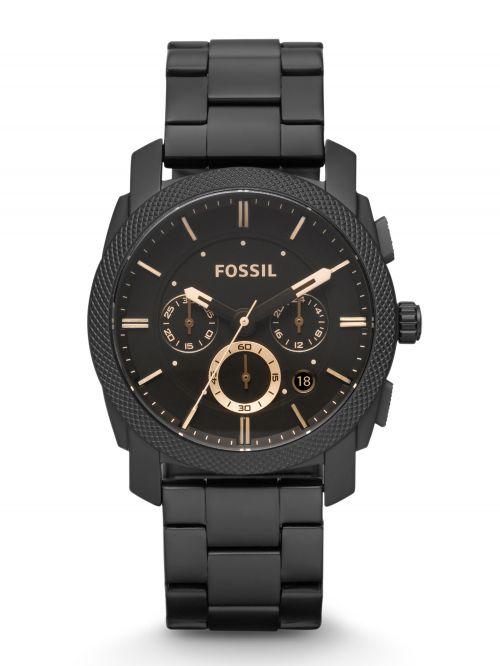 שעון יד FOSSIL לגבר עם רצועת מתכת קולקציית MACHINE דגם FS4682IE