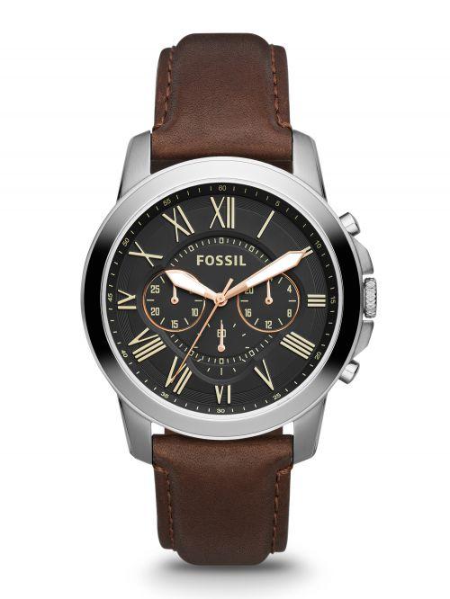 שעון יד FOSSIL לגבר עם רצועת עור דגם FS4813IE
