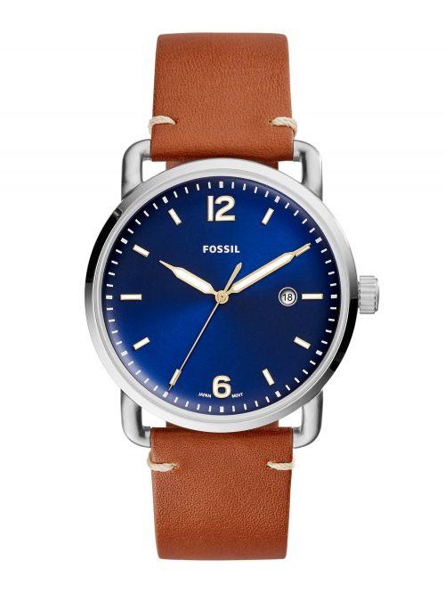 שעון יד FOSSIL לגבר עם רצועת עור קולקציית THE COMMUTER דגם FS5325