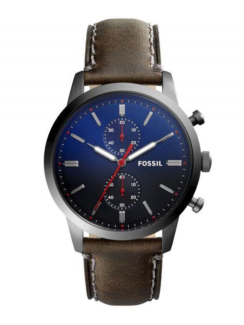 שעון יד FOSSIL לגבר עם רצועת עור קולקציית TOWNSMAN דגם FS5378