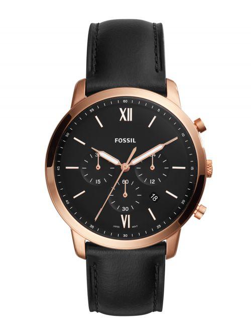 שעון FOSSIL לגבר רצועת עור קולקציית NEUTRA דגם FS5381