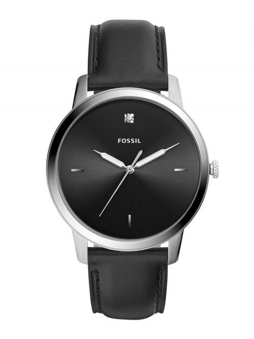 שעון יד FOSSIL לגבר עם רצועת עור קולקציית MINIMALIST דגם FS5497