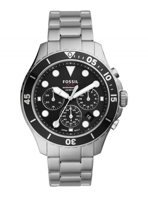 שעון יד FOSSIL לגבר עם רצועת מתכת דגם FS5725