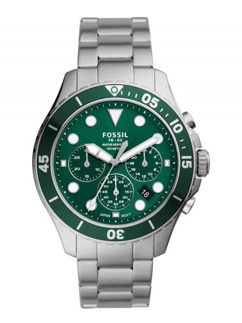 שעון יד FOSSIL לגבר עם רצועת מתכת דגם FS5726