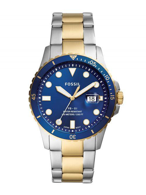 שעון יד גברים FOSSIL רצועה בשני צבעים דגם FS5742