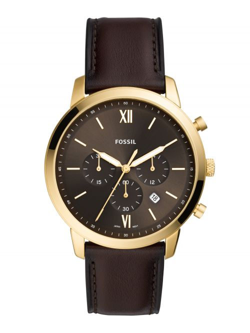 שעון יד FOSSIL לגבר קולקציית Neutra  רצועת עור דגם FS5763