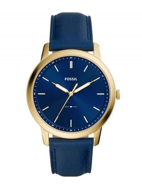 שעון יד FOSSIL לגבר עם רצועת עור קולקציית MINIMALIST דגם FS5789