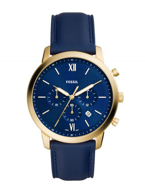 שעון יד FOSSIL לגבר עם רצועת עור קולקציית NEUTRA דגם FS5790