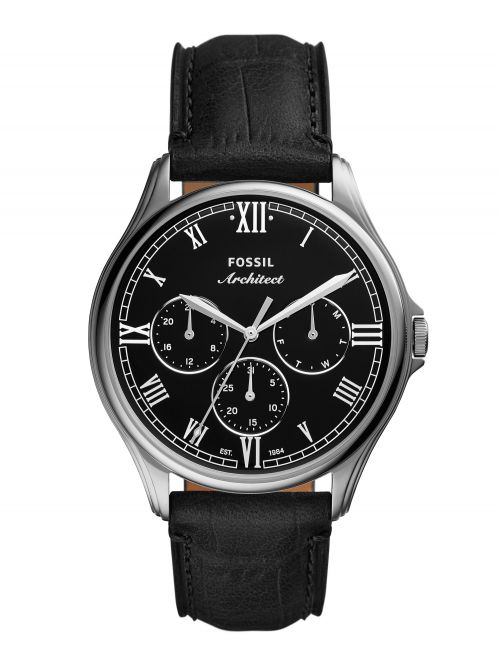 שעון יד FOSSIL לגבר רצועת עור דגם FS5802