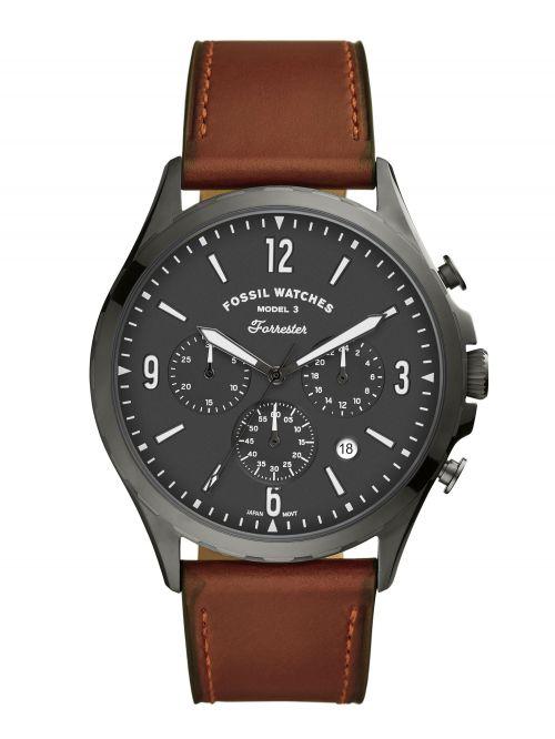 שעון יד FOSSIL לגבר עם רצועת עור דגם FS5815