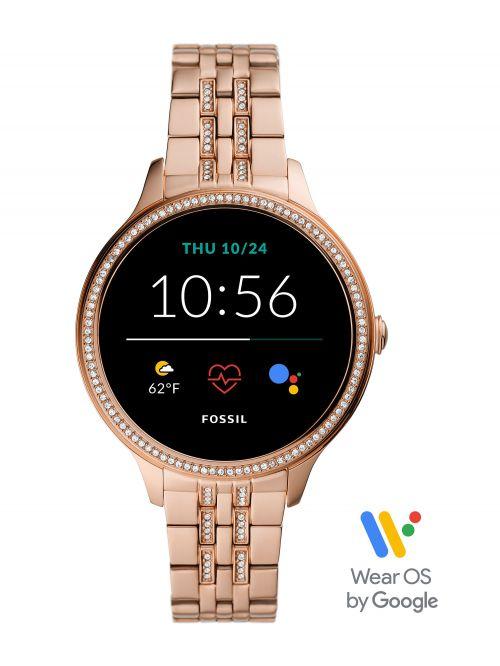 שעון חכם לאישה FOSSIL דור 5E עם רצועת מתכת דגם FTW6073