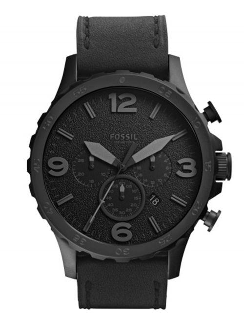שעון יד Fossil לגבר עם רצועת עור דגם JR1354
