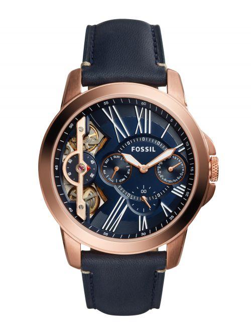 שעון יד FOSSIL אוטומטי לגבר עם רצועת עור קולקציית GRANT דגם ME1162