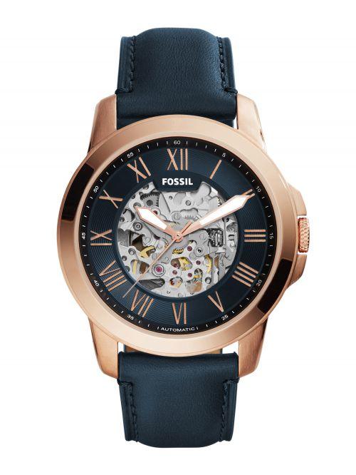 שעון יד FOSSIL אוטומטי לגבר עם רצועת עור קולקציית GRANT דגם ME3102