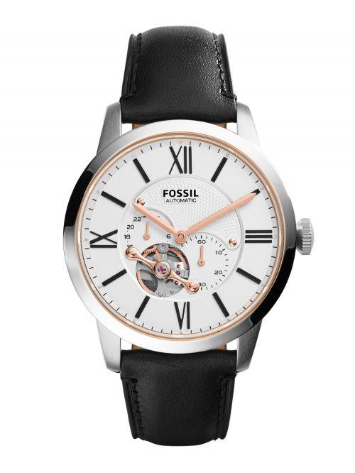 שעון יד FOSSIL אוטומטי לגבר עם רצועת עור קולקציית TOWNSMAN דגם ME3104
