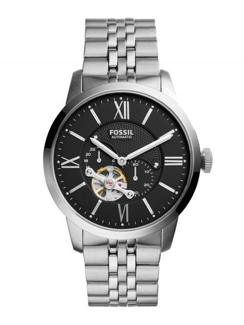 שעון יד FOSSIL אוטומטי לגבר עם רצועת מתכת קולקציית TOWNSMAN דגם ME3107