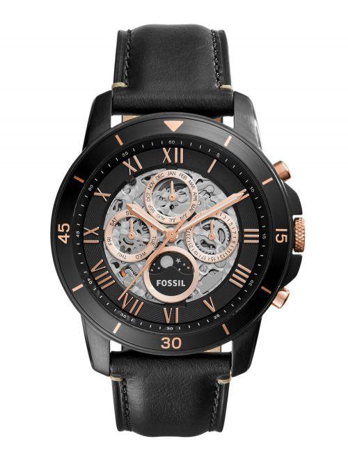 שעון יד FOSSIL אוטומטי לגבר עם רצועת עור דגם ME3138