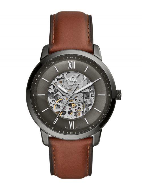 שעון יד FOSSIL אוטומטי לגבר עם רצועת עור דגם ME3161