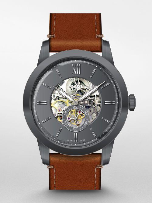 שעון יד FOSSIL לגבר עם מנגנון אוטומטי קולקציית TOWNSMAN דגם ME3181
