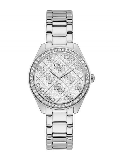 שעון יד GUESS בצבע כסוף לאישה קולקציית SUGAR דגם GW0001L1