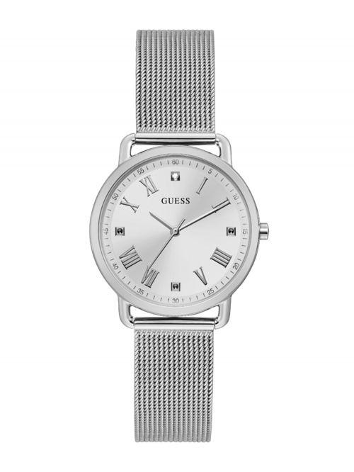 שעון יד GUESS לאישה בצבע כסוף קולקציית AVERY דגם GW0031L1
