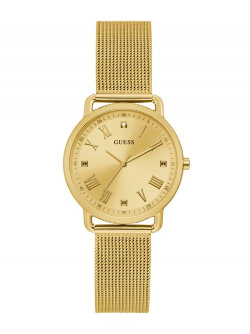שעון יד GUESS לאישה בצבע זהב קולקציית AVERY דגם GW0031L2