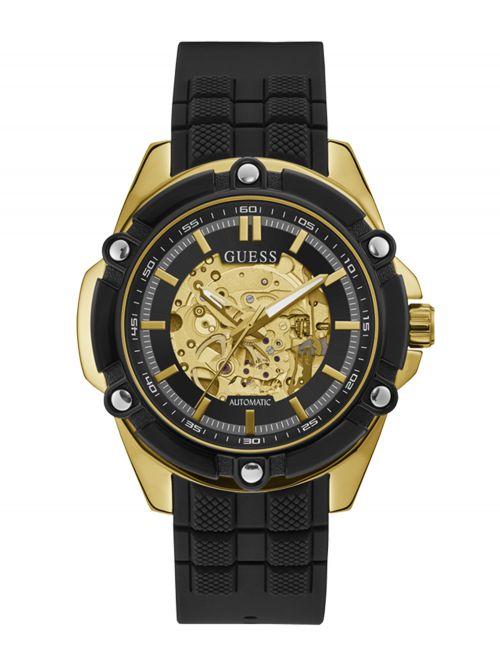 שעון יד GUESS לגבר עם רצועת סיליקון קולקציית BOLT דגם GW0061G2