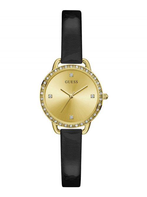 שעון יד GUESS לאישה עם רצועת עור קולקציית BELLINI דגם GW0099L3